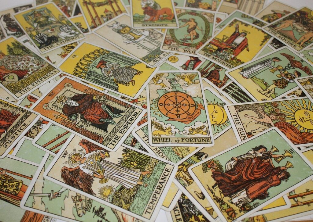 image showing a selection of tarot cards
